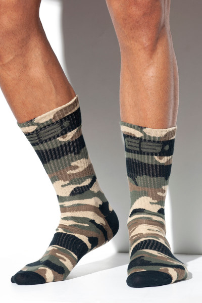 ES Collection Camo Socks SCK08-17 - Camouflage - Mens Socks - Front View - Topdrawers Clothing for Men
