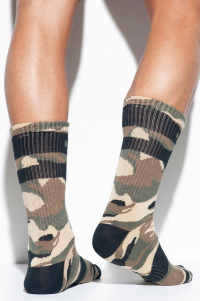 ES Collection Camo Socks SCK08-17 - Camouflage - Mens Socks - Rear View - Topdrawers Clothing for Men