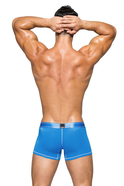 Private Structure Platinum Bamboo Trunk PBUZ3749-SBU Solid Blue - Mens Boxer Briefs - Rear View - Topdrawers Underwear for Men