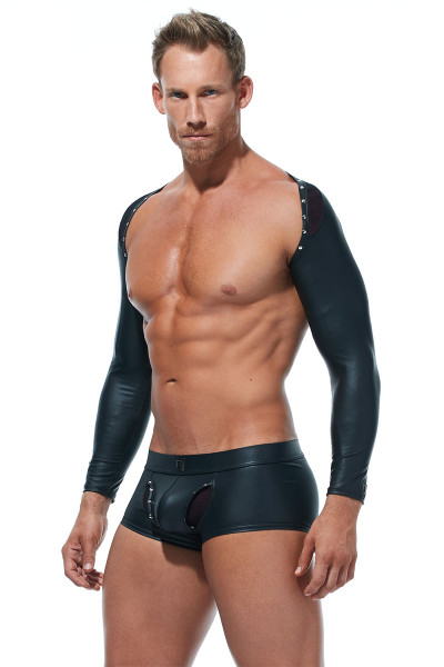 Gregg Homme Scorpio Long Sleeve Bolero 173229 - Mens Fetish Tops - Side View - Topdrawers Fetish Wear for Men
