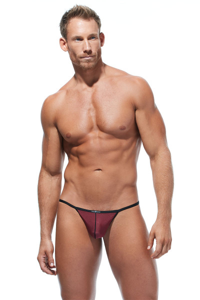 Gregg Homme Torridz Pouch Cockring 87416-BUR Burgundy - Mens Pouches - Front View - Topdrawers Underwear for Men