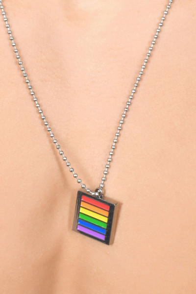 Andrew Christian Pride Boundary Necklace 8426 - Mens Jewellery - Front View - Topdrawers Accessories for Men