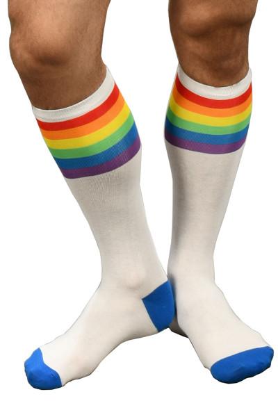 Andrew Christian Pride Stripe Socks 8418 - Mens Socks - Front View - Topdrawers Underwear for Men