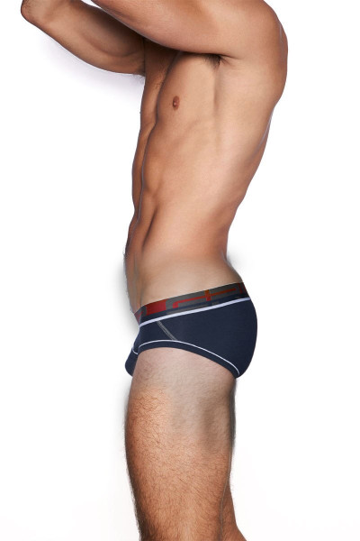 C-IN2 Grip 1.0 Low Rise Brief 3313-411 Dark Navy - Mens Briefs - Side View - Topdrawers Underwear for Men