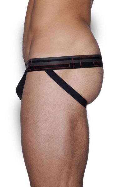 C-IN2 Zen Street Jock 3226-001 Black - Mens Jockstraps - Rear View - Topdrawers Underwear for Men