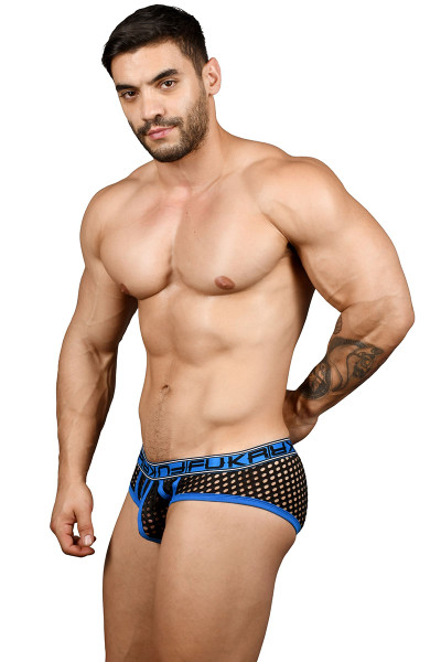 Andrew Christian FUKR Net Dom Brief 91363 - Mens Fetish Briefs - Side View - Topdrawers Underwear for Men