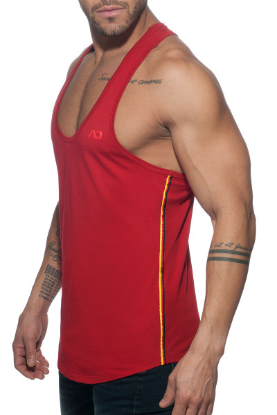 Addicted Flags Tape Tank Top AD777-06 Red - Mens Tank Tops T-Shirts - Side View - Topdrawers Clothing for Men