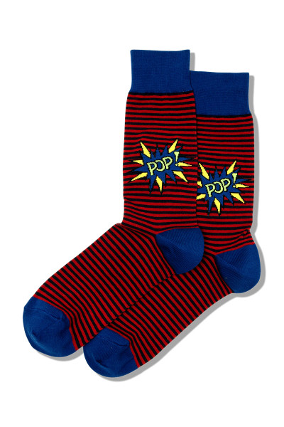 Hot Sox Pop Crew Socks HSM10017 - Mens Socks - Front View - Topdrawers Footwear for Men