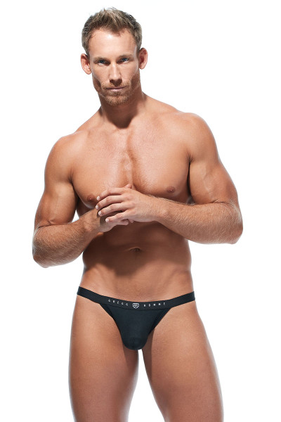 Gregg Homme Room-Max Air Thong 172604-BL Black - Mens Thongs - Front View - Topdrawers Underwear for Men