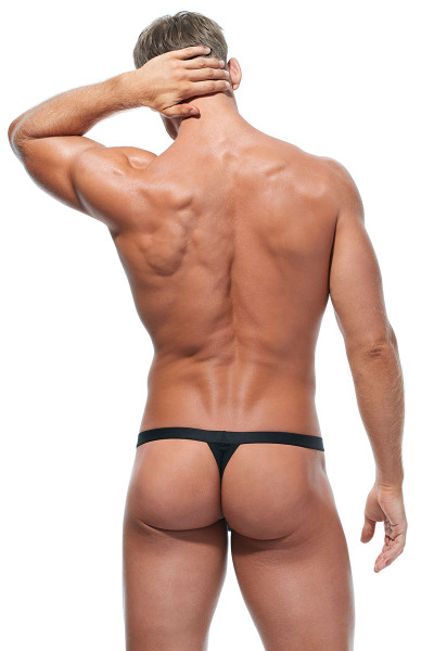 Gregg Homme Room-Max Air Thong 172604-BL Black - Mens Thongs - Rear View - Topdrawers Underwear for Men