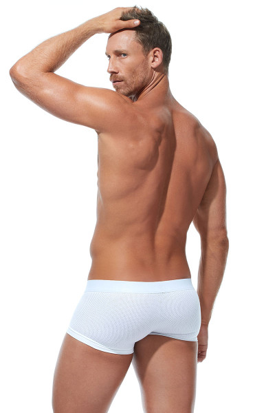 Gregg Homme Room-Max Air Boxer Brief 172605-WH White - Mens Boxer Briefs - Rear View - Topdrawers Underwear for Men