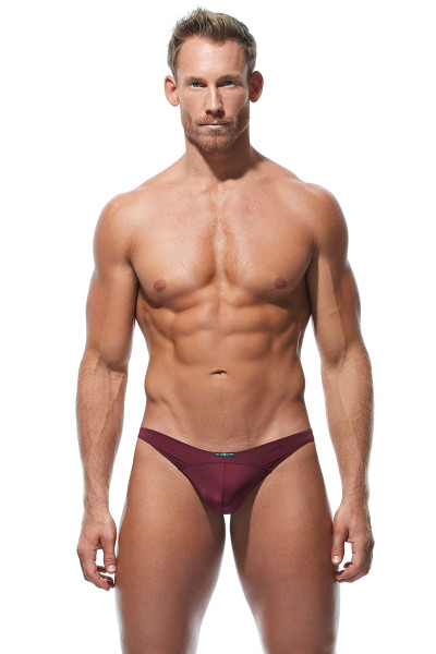 Gregg Homme Wonder Thong 96104-BUR Burgundy - Mens Thongs - Front View - Topdrawers Underwear for Men