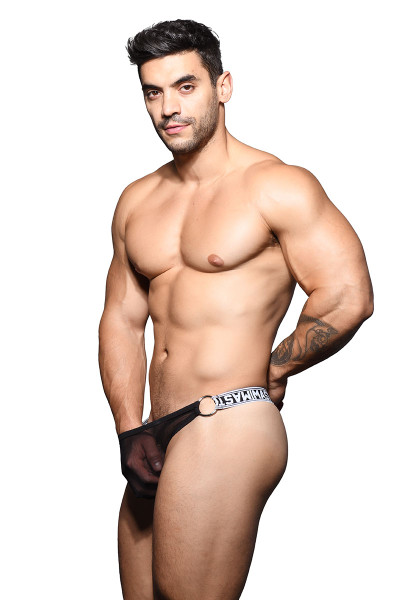 Andrew Christian Master Sheer Ring Thong w/ Almost Naked 91425 - Mens Thongs - Side View - Topdrawers Underwear for Men