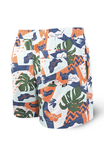Saxx Cannonball 2N1 Swim Short 5-Inch | Aqua Cut Collage SXTS30-ACC - Mens Boardshort Swim Shorts - Rear View - Topdrawers Swimwear for Men