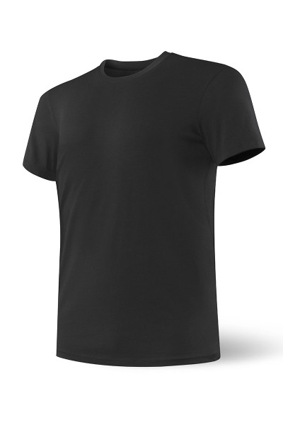 Saxx Undercover S/S Crew | Black SXTC19-BLK - Mens Undershirt T-Shirts - Front View - Topdrawers Underwear for Men