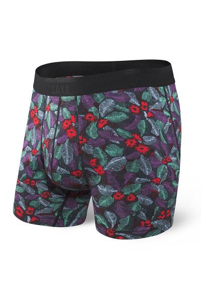 Saxx Platinum Boxer Brief w/ Fly | Blue Skattered Leaf SXBB42F-SKL - Mens Boxer Briefs - Front View - Topdrawers Underwear for Men