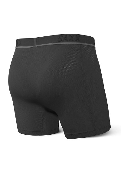 Saxx Kinetic HD Boxer Brief | Blackout SXBB32-BLO - Mens Boxer Briefs - Rear View - Topdrawers Underwear for Men