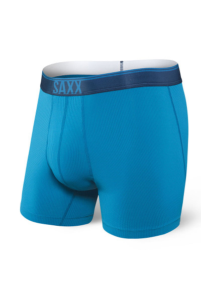 Saxx Quest Boxer Brief w/ Fly | Celestial Blue SXBB70F-CEL - Mens Boxer Briefs - Front View - Topdrawers Underwear for Men