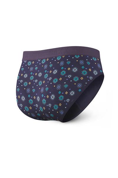 Saxx Ultra Brief w/ Fly | Purple Lite Skies SXBR30F-LSP - Mens Briefs - Rear View - Topdrawers Underwear for Men