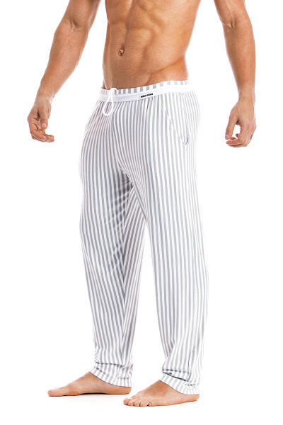 Modus Vivendi Tiger Loungepants 15861-WH White -  Side View - Topdrawers  for Men