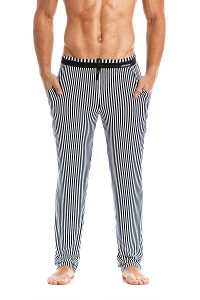 Modus Vivendi Tiger Loungepants 15861-BL Black -  Front View - Topdrawers  for Men