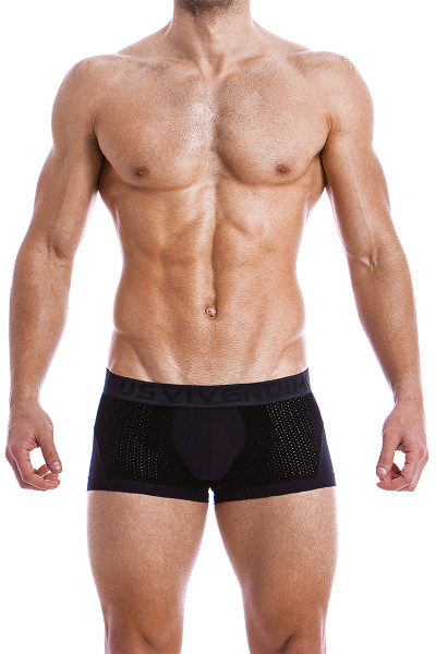 Modus Vivendi Wolf Boxer 18821-BL Black -  Front View - Topdrawers  for Men