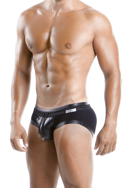 Modus Vivendi Military Brief 08511-BL Black -  Side View - Topdrawers  for Men