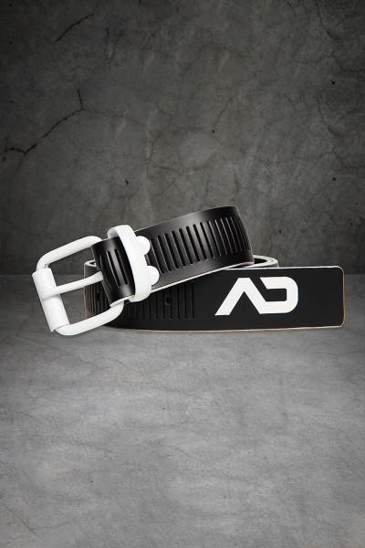 Addicted Fetish AD Fetish Leather Belt ADF120-01 White - Mens Fetish Belts - Front View - Topdrawers Fetish Wear for Men