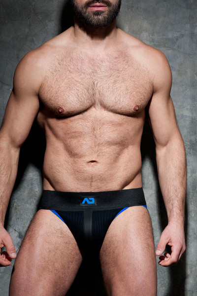 Addicted Fetish Rib Jock ADF84-16 Royal Blue - Mens Jockstraps - Front View - Topdrawers Underwear for Men