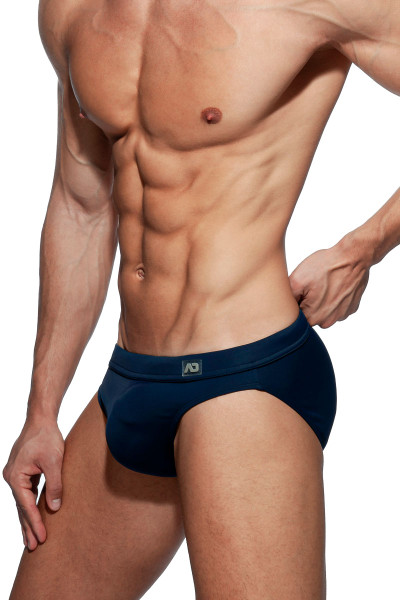 Addicted Dick Up Swim Brief ADS237-09 Navy Blue - Mens Swim Bikini Briefs - Side View - Topdrawers Swimwear for Men