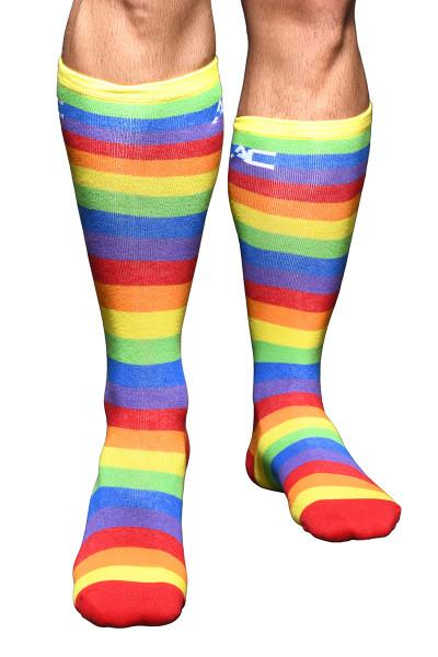Andrew Christian Pride Stripe Socks 8460 - Mens Socks - Front View - Topdrawers Underwear for Men
