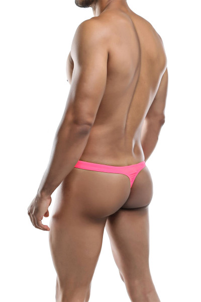 Joe Snyder Poly Thong JS03-NEPK Neon Pink - Mens Thongs - Rear View - Topdrawers Underwear for Men