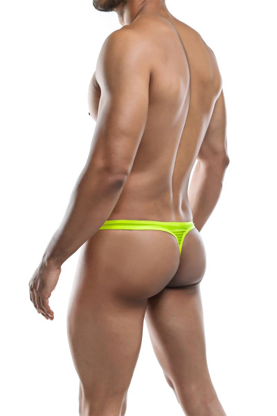 Joe Snyder Poly Thong JS03-YL Yellow - Mens Thongs - Rear View - Topdrawers Underwear for Men