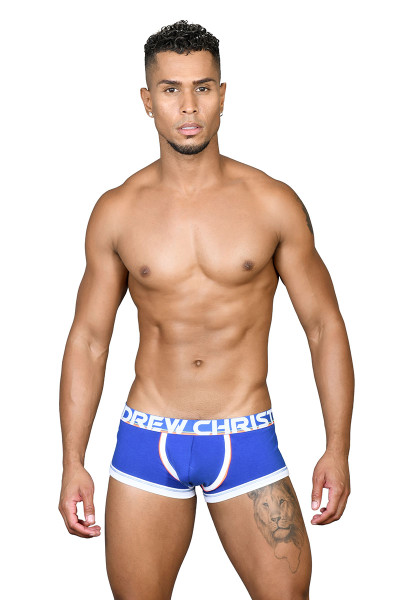 Andrew Christian CoolFlex Modal Active Boxer w/ Show-It 91500-ROY Royal Blue - Mens Boxer Briefs - Front View - Topdrawers Underwear for Men