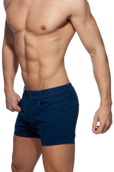 Addicted AD Bermuda Short AD818-09 Navy Blue - Mens Shorts - Side View - Topdrawers Clothing for Men