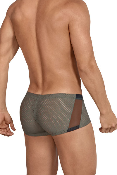 Clever Boias Latin Boxer 2443-10 Green - Mens Trunk Boxer Briefs - Rear View - Topdrawers Underwear for Men