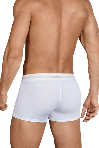 Clever Edentity Latin Boxer 2437-01 White - Mens Trunk Boxer Briefs - Rear View - Topdrawers Underwear for Men