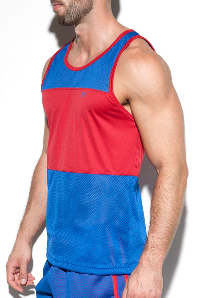 ES Collection Fit Mesh Tank Top TS232-16 Royal Blue  - Mens Singlet Tank Tops - Side View - Topdrawers Clothing for Men
