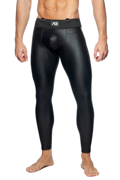 Addicted Fetish AD Fetish Long John ADF107-10 Black  - Mens Fetish Long Tights - Front View - Topdrawers Clothing for Men