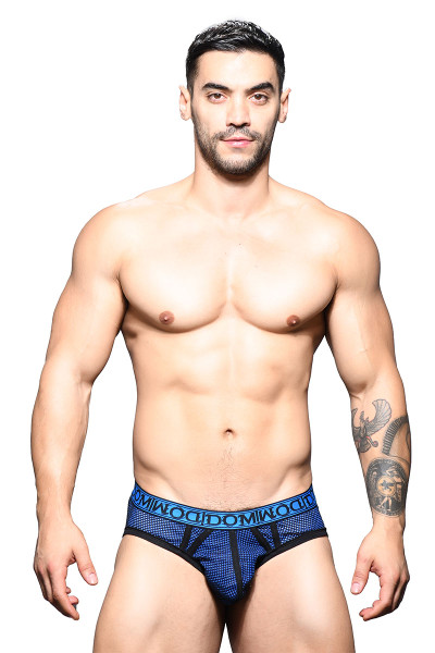 Andrew Christian Dom Double-Mesh Brief 91608 - Mens Briefs - Front View - Topdrawers Underwear for Men
