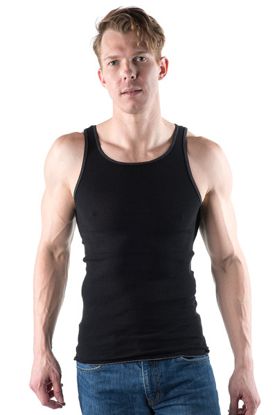 Go Softwear Rib Tank 4615-BL - Mens Tank Tops - Front View - Topdrawers Clothing for Men
