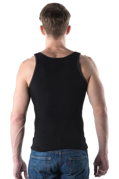 Go Softwear Rib Tank 4615-BL - Mens Tank Tops - Rear View - Topdrawers Clothing for Men