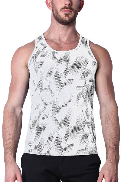 Timoteo Aero Sport Tank Top TMS147-WH White - Mens Tank Top T-Shirts - Front View - Topdrawers Clothing for Men