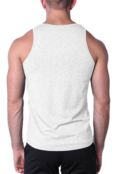 Timoteo Aero Sport Tank Top TMS147-WH White - Mens Tank Top T-Shirts - Rear View - Topdrawers Clothing for Men