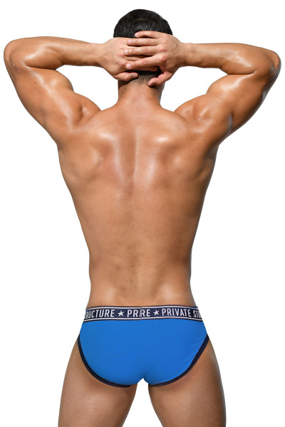 Private Structure Pride Mini Brief EPUY4019-FBU Freedom Blue - Mens Briefs - Rear View - Topdrawers Underwear for Men