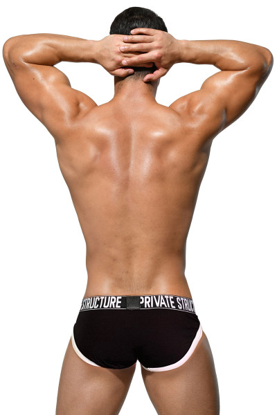 Private Structure Platinum Modal Mini Brief PMUZ3784-WH White - Mens Briefs - Rear View - Topdrawers Underwear for Men