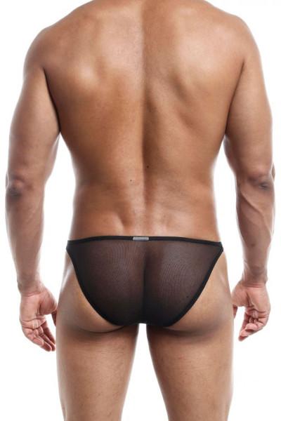 Joe Snyder Infinity Brief JSIFT01-BLM Black Mesh - Mens Briefs - Rear View - Topdrawers Underwear for Men