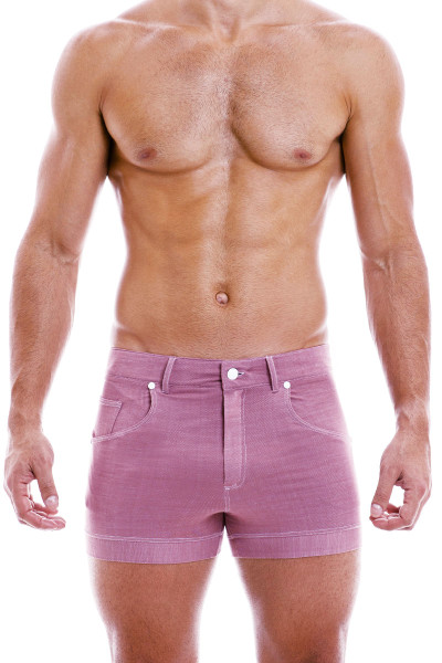 Modus Vivendi Jeans Shorts 05061-DUPK Dusty Pink - Mens Shorts - Front View - Topdrawers Clothing for Men
