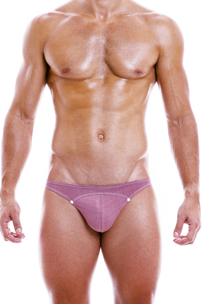 Modus Vivendi Jeans Low Cut Brief 05012-DUPK Dusty Pink - Mens Briefs - Front View - Topdrawers Underwear for Men