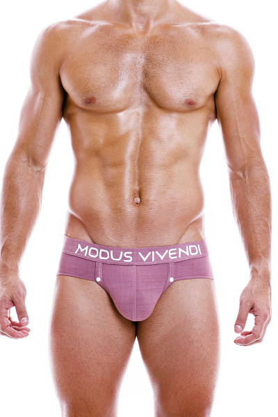Modus Vivendi Jeans Jockstrap 05011-DUPK Dusty Pink - Mens Jockstraps - Front View - Topdrawers Underwear for Men